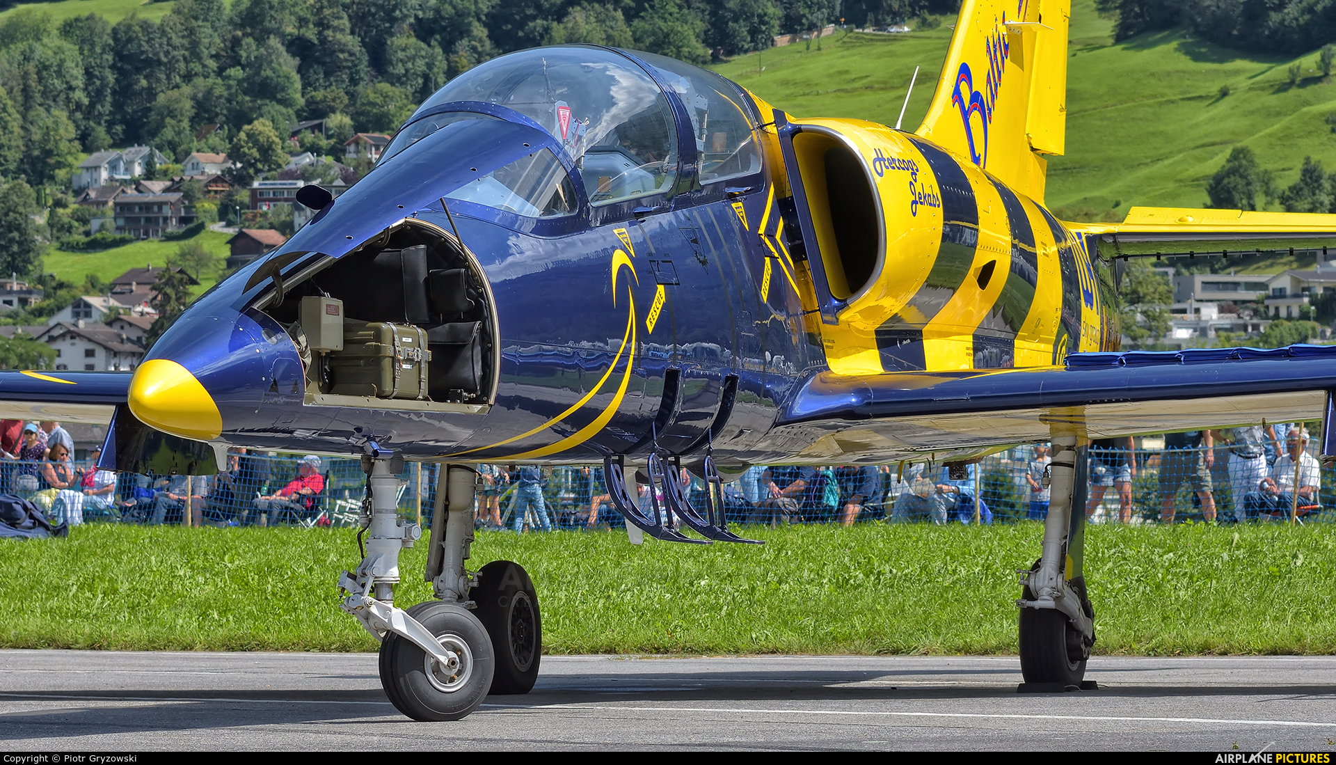 Baltic Bees Jet Team YL-KSH aircraft at Mollis