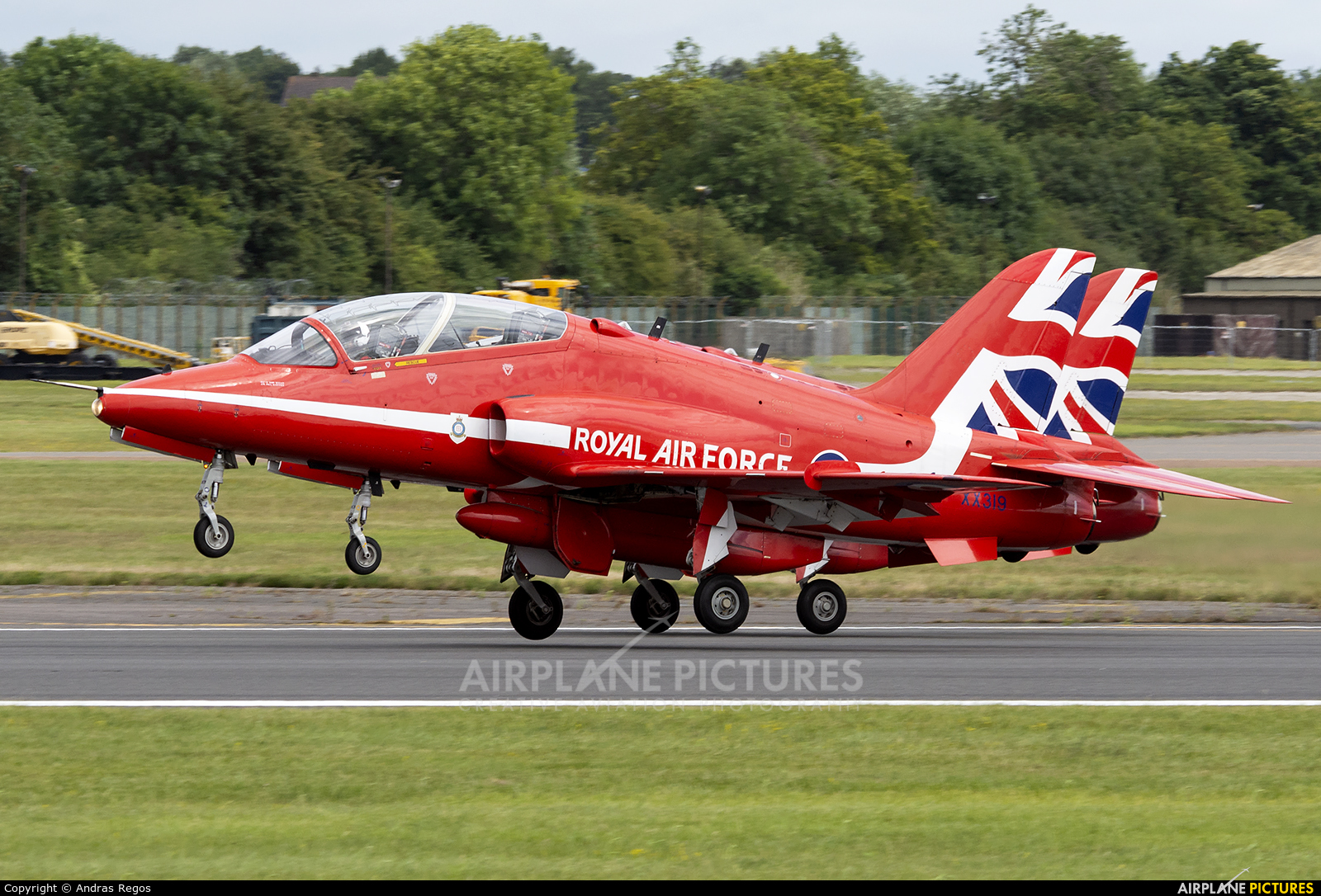 "Royal Air Force ""Red Arrows"" XX319 aircraft at Fairford"