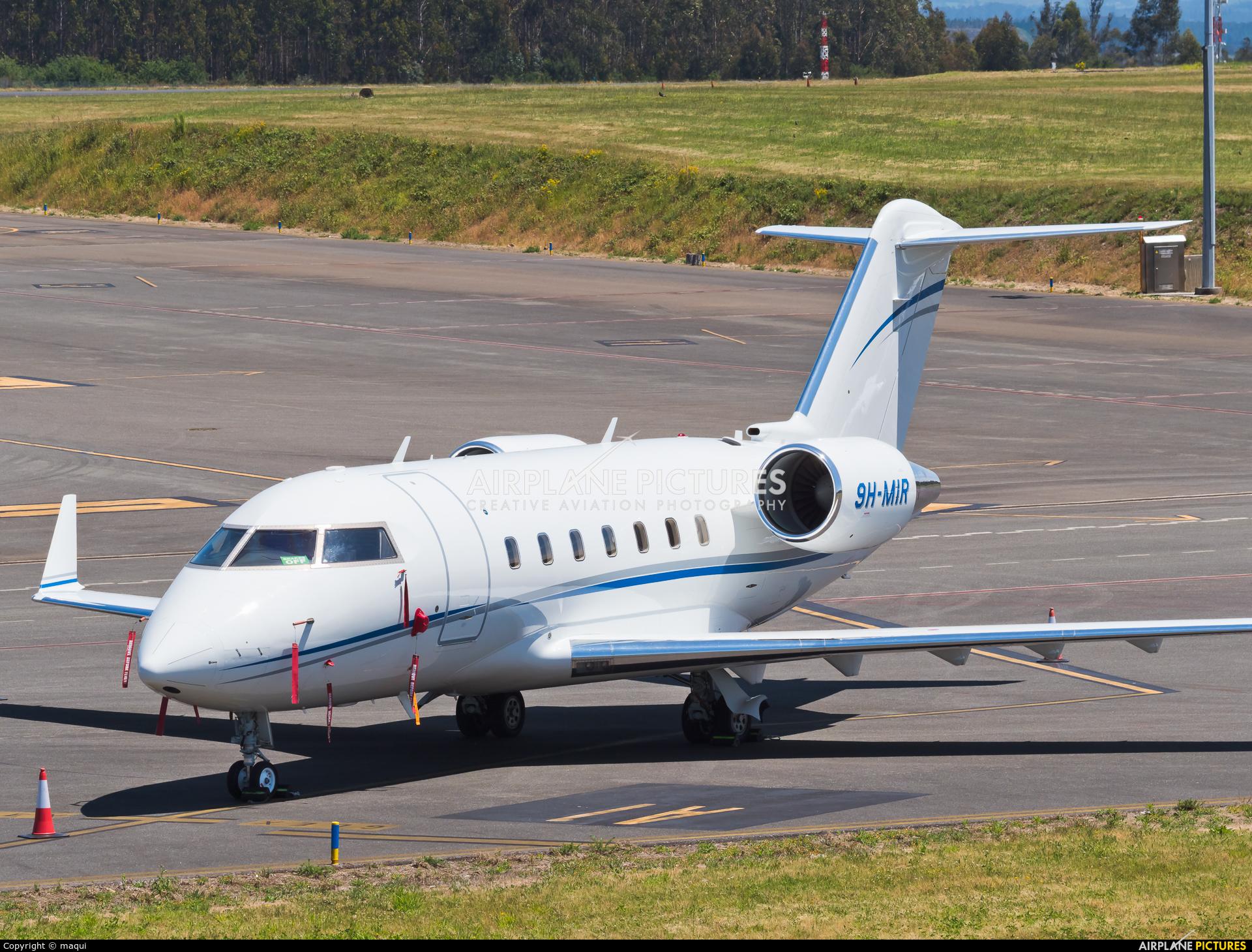 Hi Fly Malta 9H-MIR aircraft at Santiago de Compostela