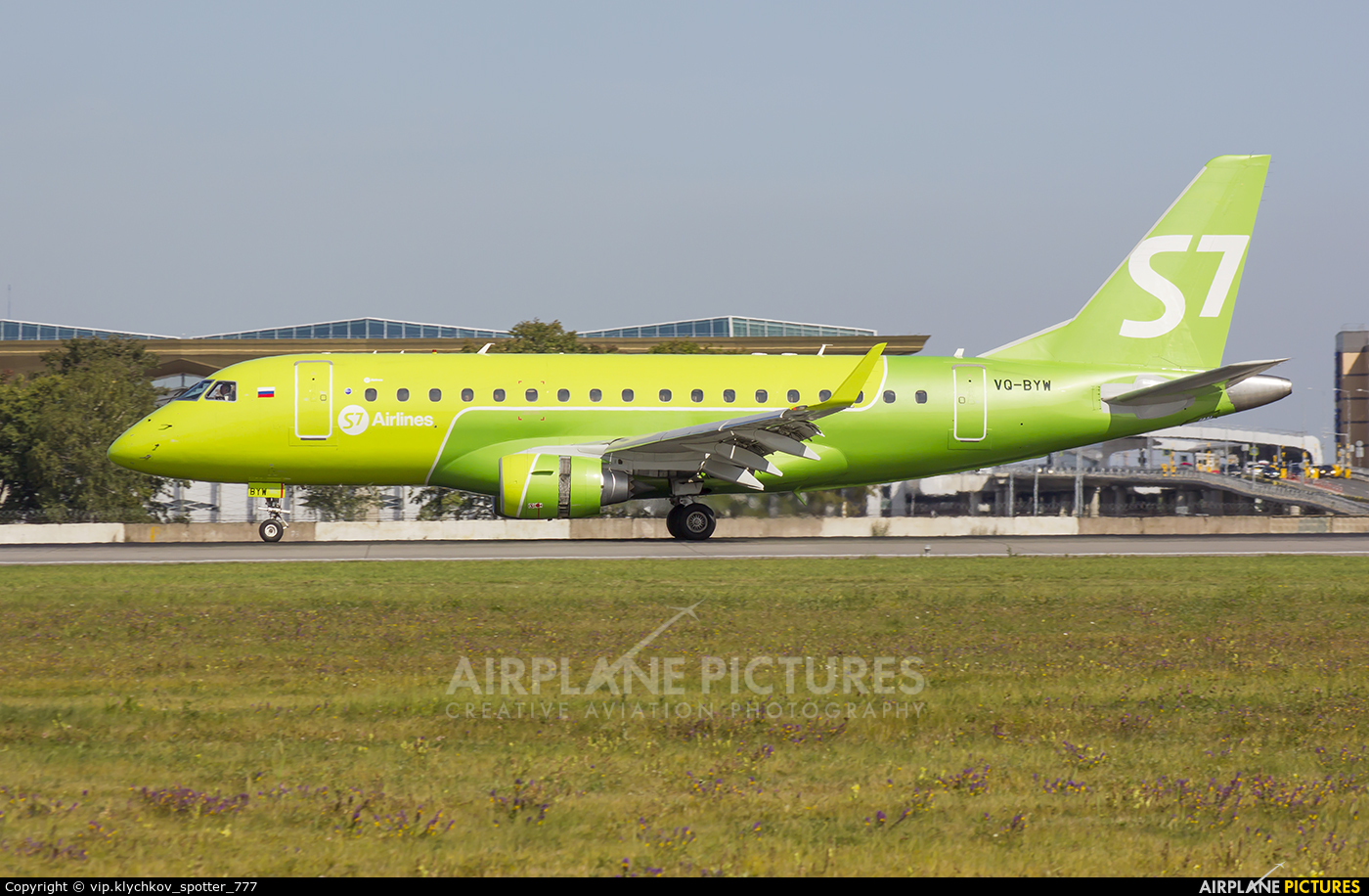 S7 Airlines VQ-BYW aircraft at St. Petersburg - Pulkovo