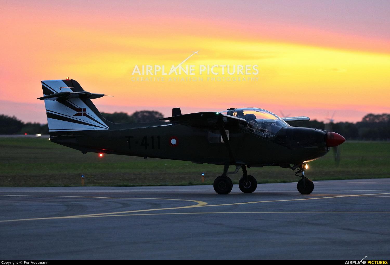 Denmark - Air Force T-411 aircraft at Copenhagen Roskilde