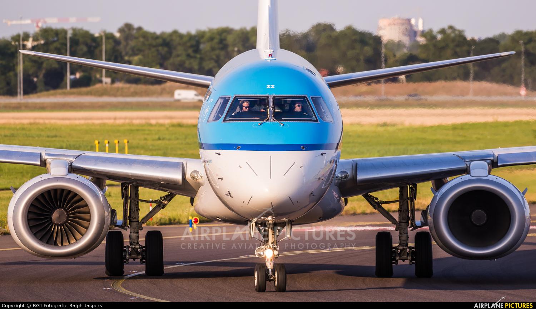 KLM Cityhopper PH-EZZ aircraft at Amsterdam - Schiphol