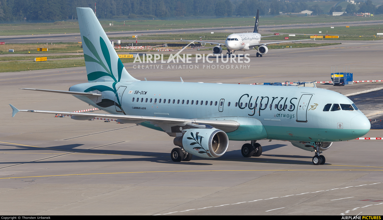 Cyprus Airways 5B-DCW aircraft at Zurich