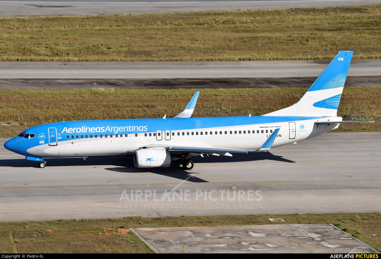 Aerolineas Argentinas LV-FVN aircraft at São Paulo - Guarulhos