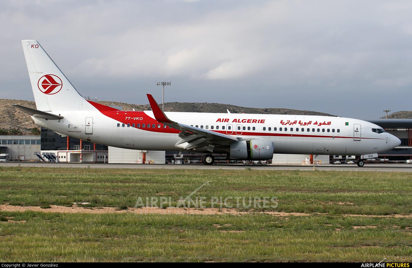Air Algerie 7T-VKO aircraft at Alicante - El Altet