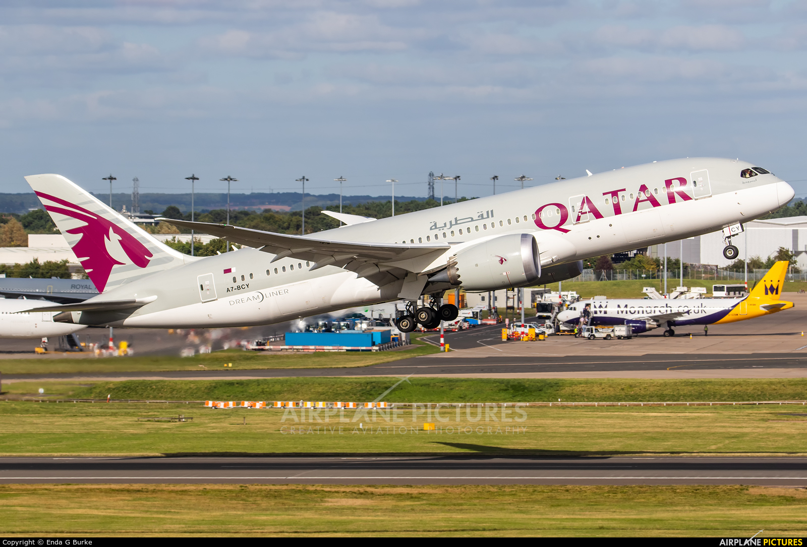 Qatar Airways A7-BCY aircraft at Birmingham