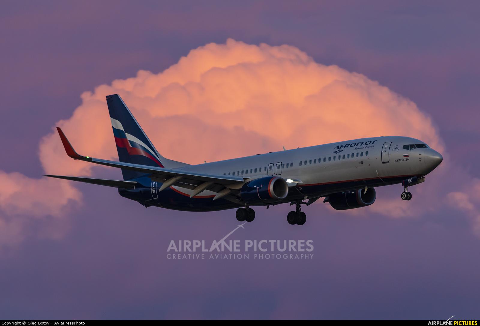 Aeroflot VQ-BWF aircraft at Moscow - Sheremetyevo