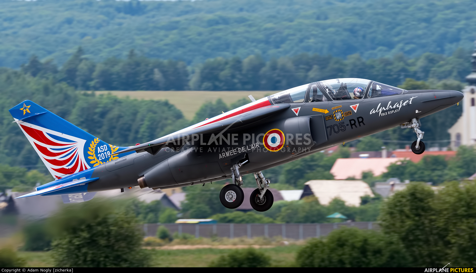 "France - Air Force ""Patrouille de France"" E114 aircraft at Sliač"