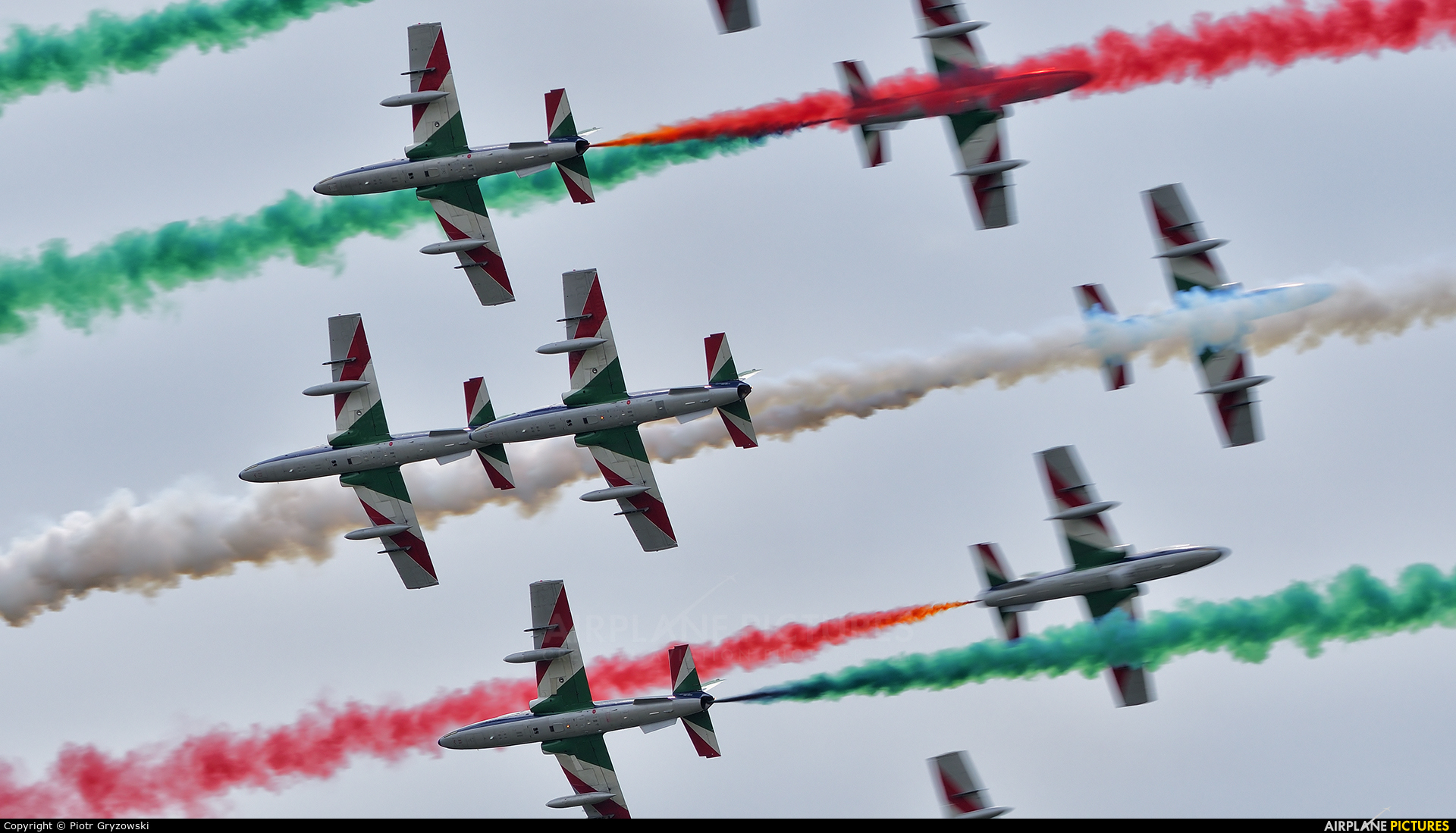 "Italy - Air Force ""Frecce Tricolori"" - aircraft at Sliač"