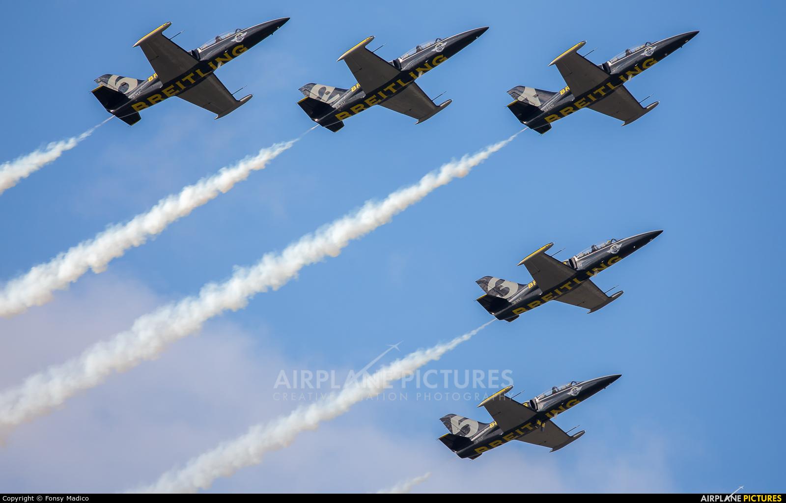 Breitling Jet Team ES-YLN aircraft at Fairford