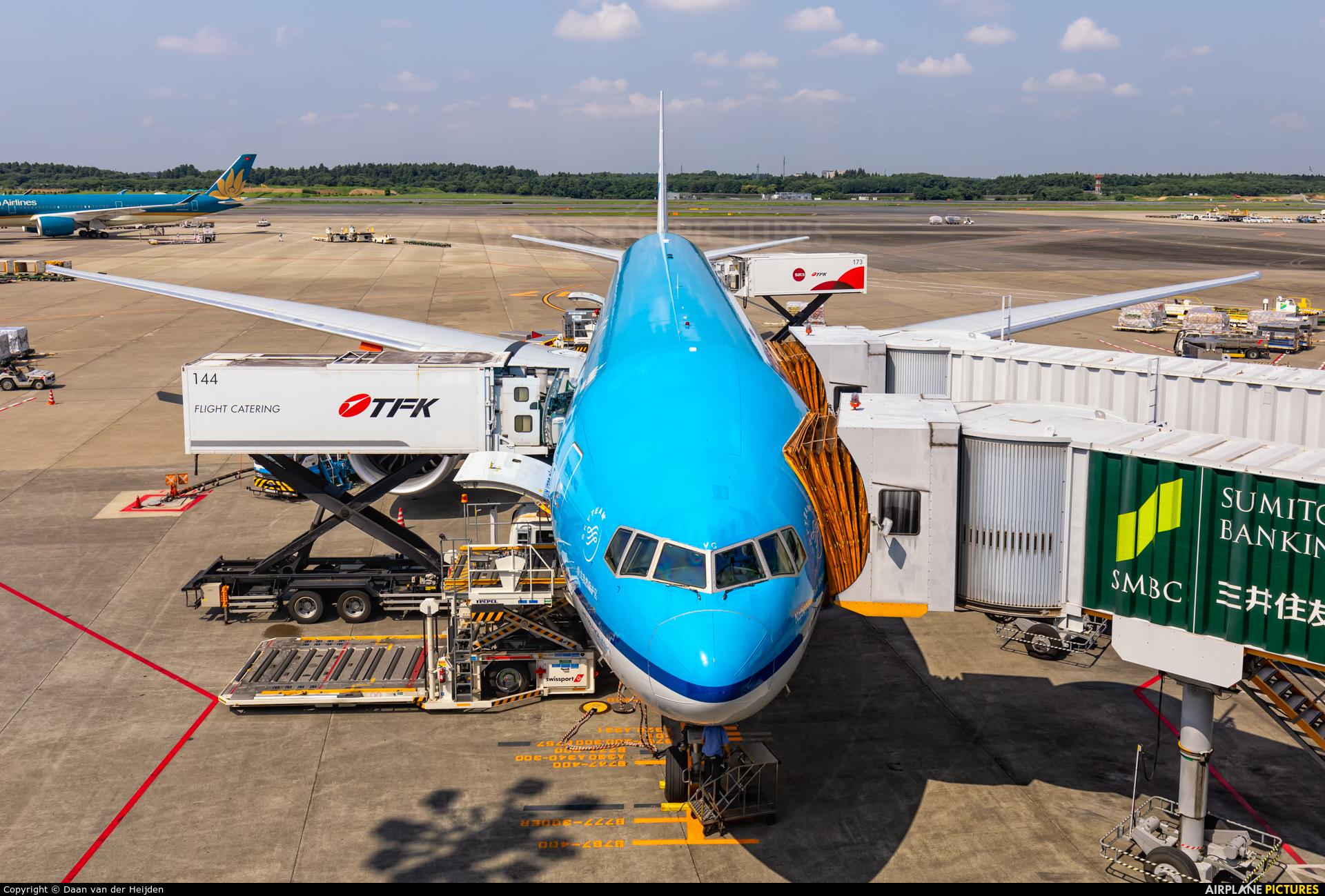 KLM PH-BVG aircraft at Tokyo - Narita Intl