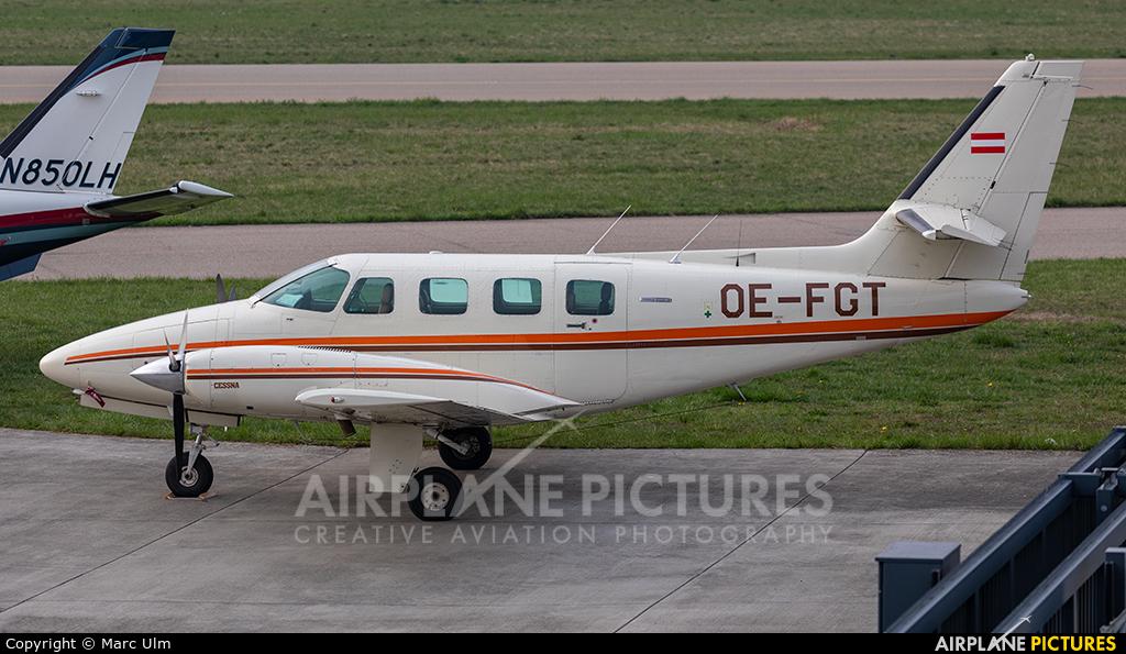 Braunegg Lufttaxi OE-FGT aircraft at Friedrichshafen