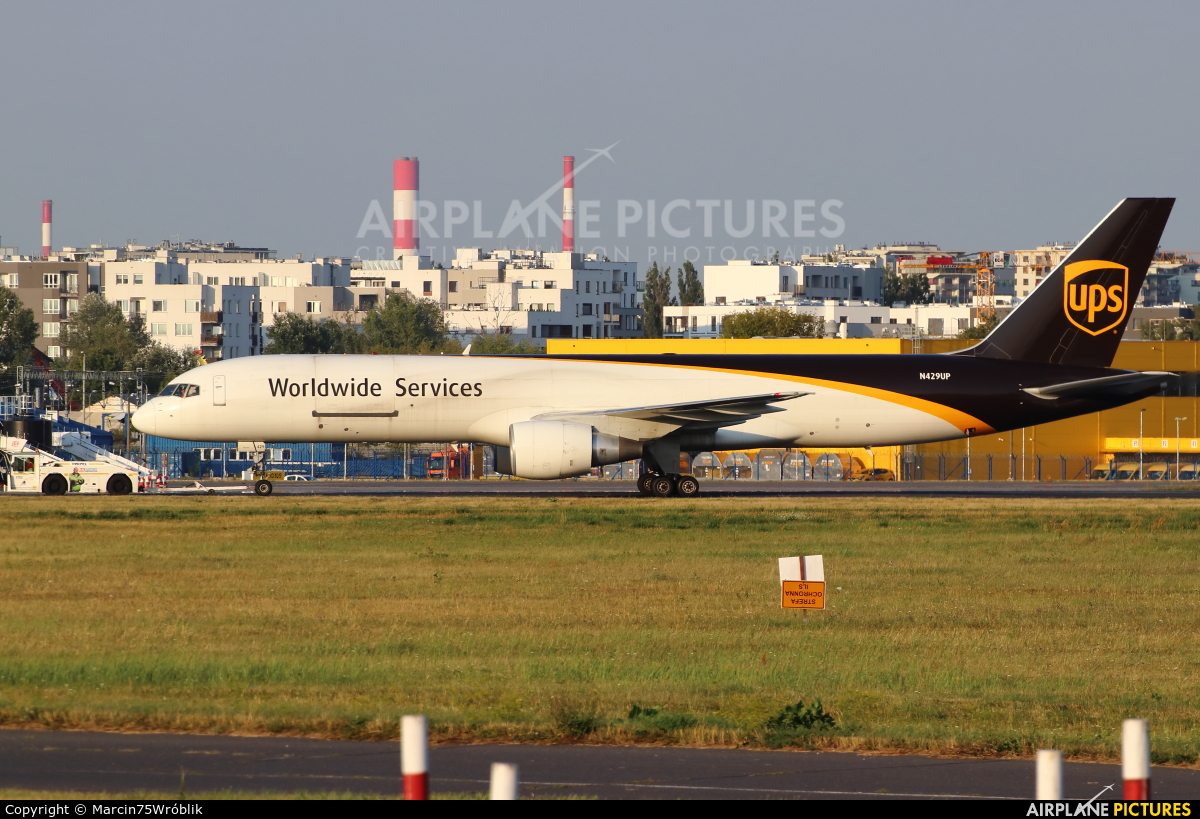 UPS - United Parcel Service N429UP aircraft at Warsaw - Frederic Chopin