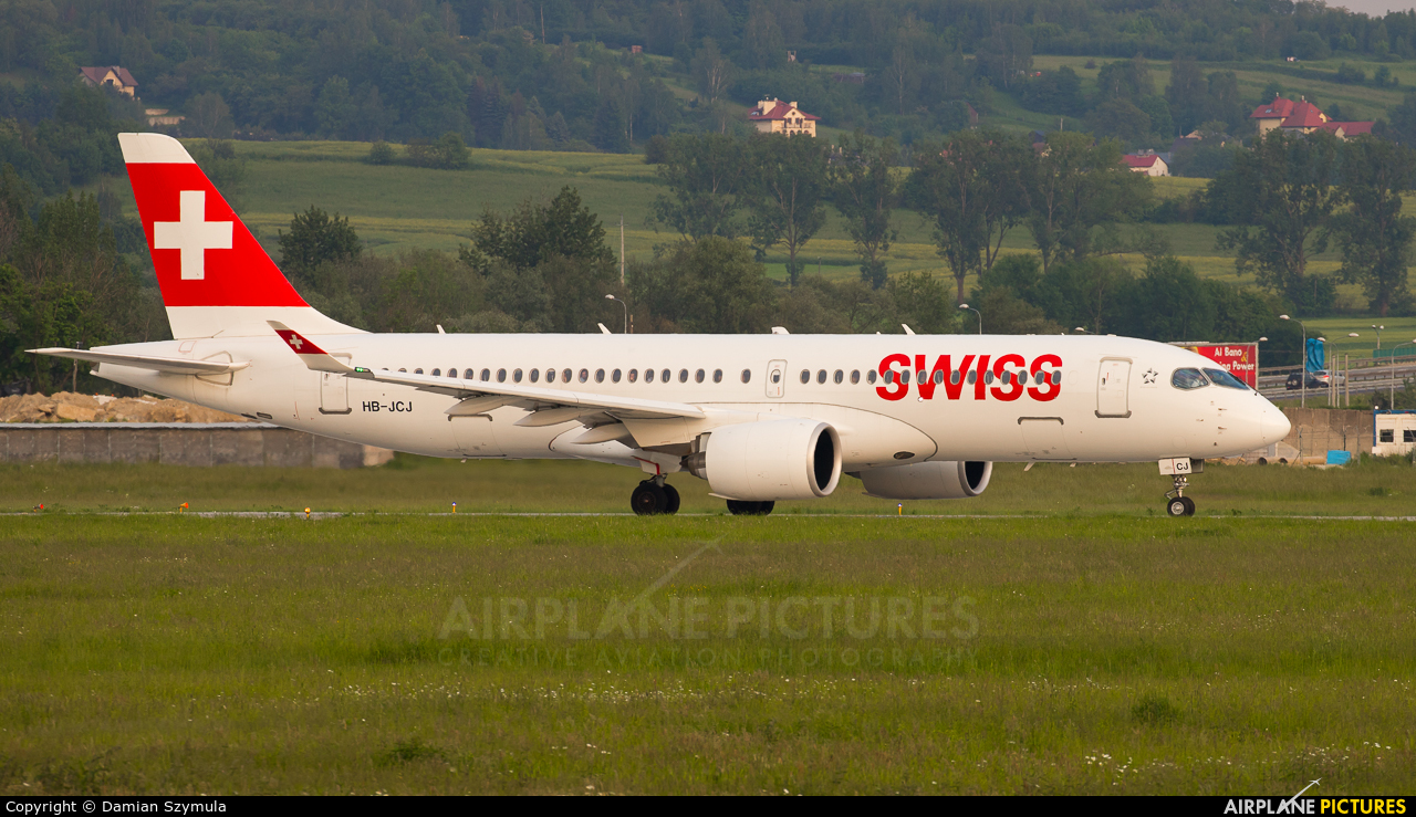 Swiss HB-JCJ aircraft at Kraków - John Paul II Intl
