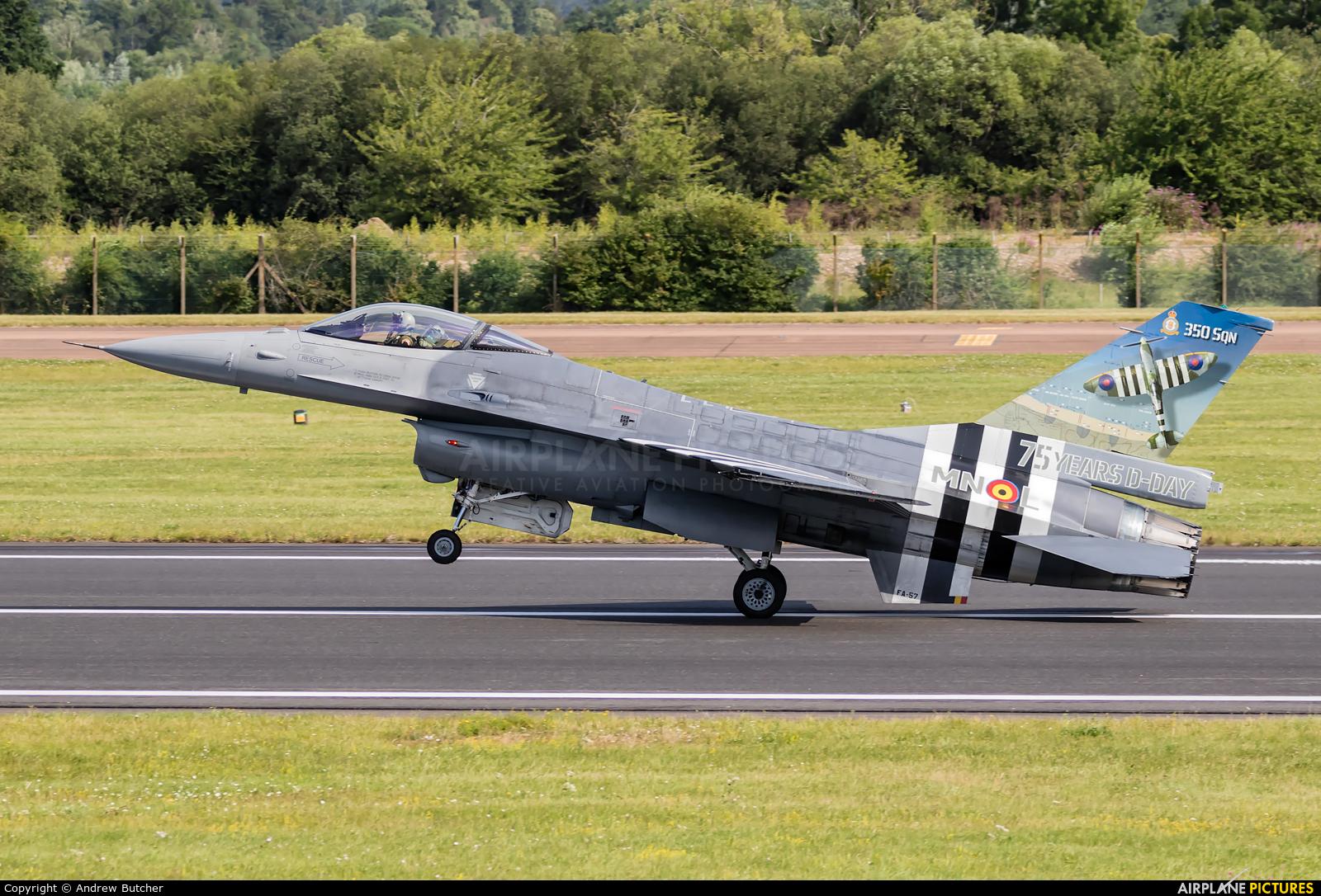 Belgium - Air Force FA-57 aircraft at Fairford