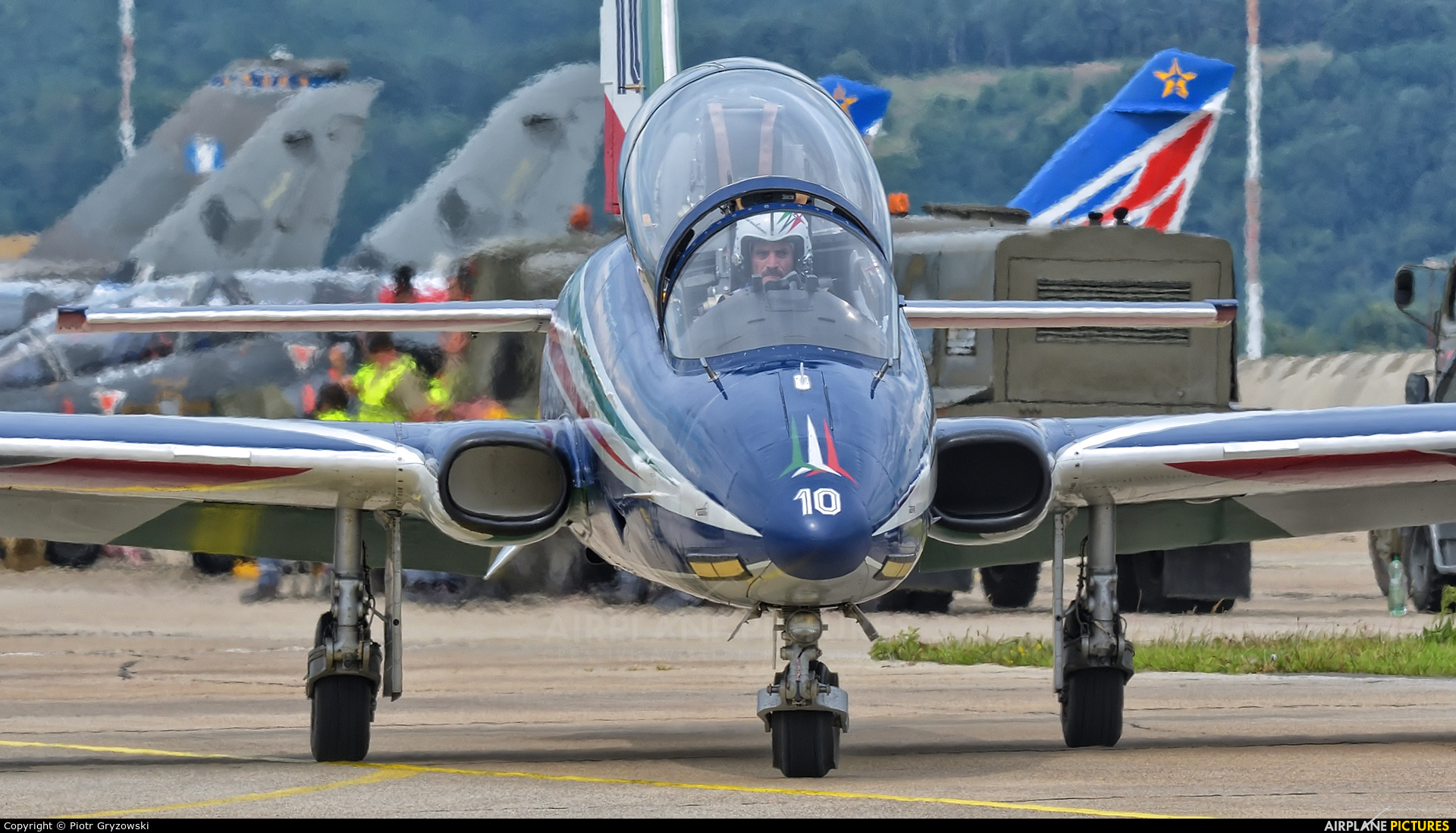 """Italy - Air Force """"Frecce Tricolori"""" MM55055 aircraft at Sliač"""