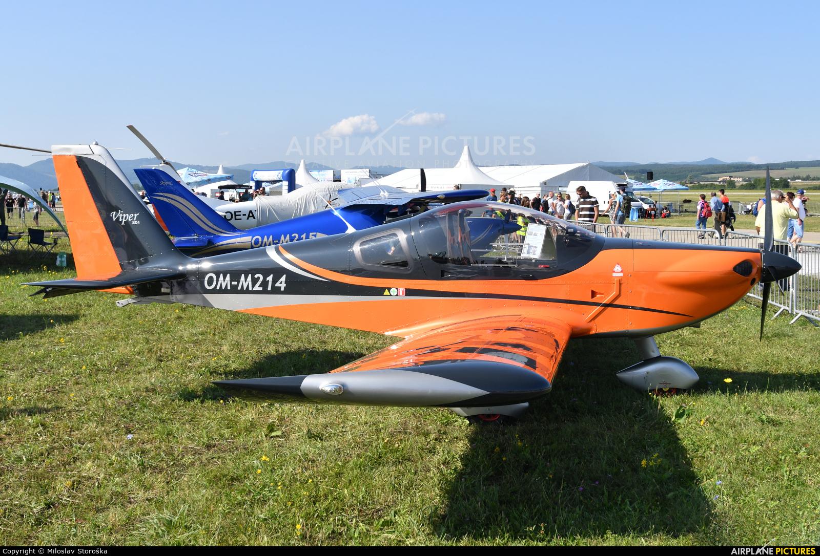 Private OM-M214 aircraft at Sliač