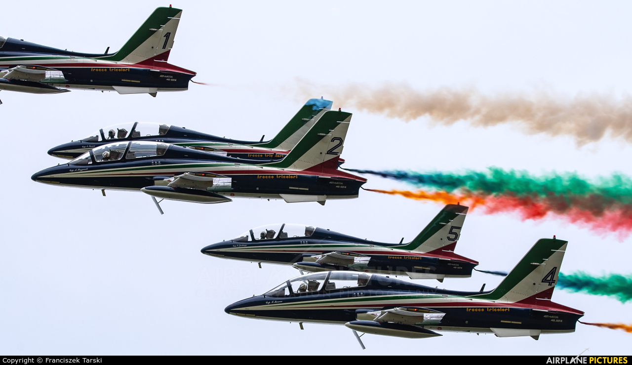 "Italy - Air Force ""Frecce Tricolori"" MM54534 aircraft at Sliač"