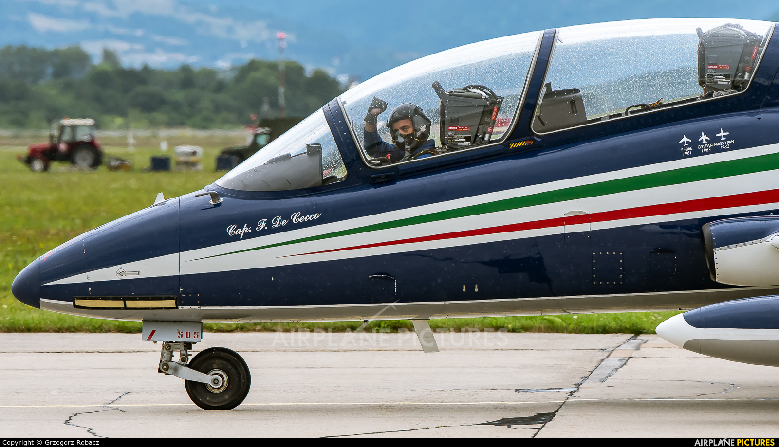 """Italy - Air Force """"Frecce Tricolori"""" MM54505 aircraft at Sliač"""