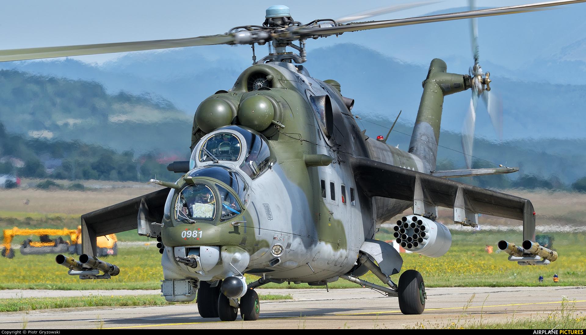 Czech - Air Force 0981 aircraft at Sliač