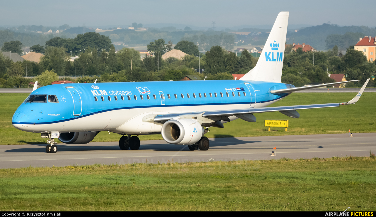 KLM Cityhopper PH-EXY aircraft at Gdańsk - Lech Wałęsa