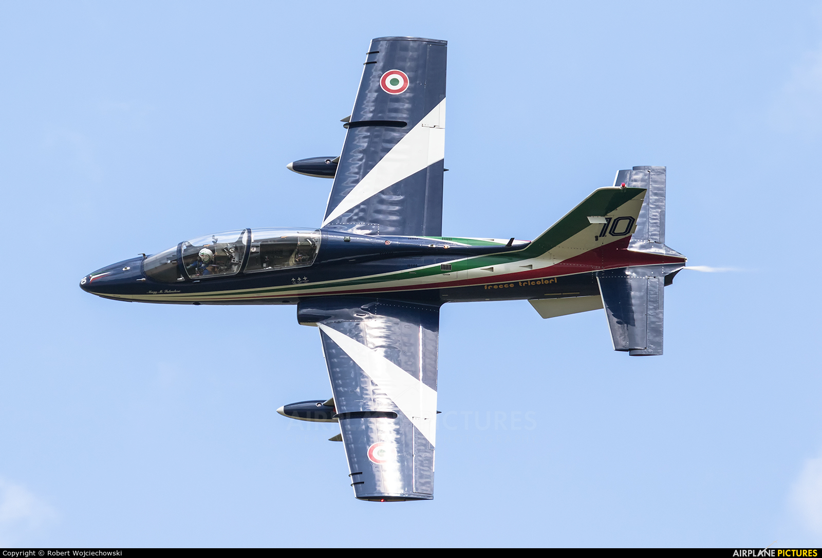 "Italy - Air Force ""Frecce Tricolori"" MB-339A aircraft at Sliač"