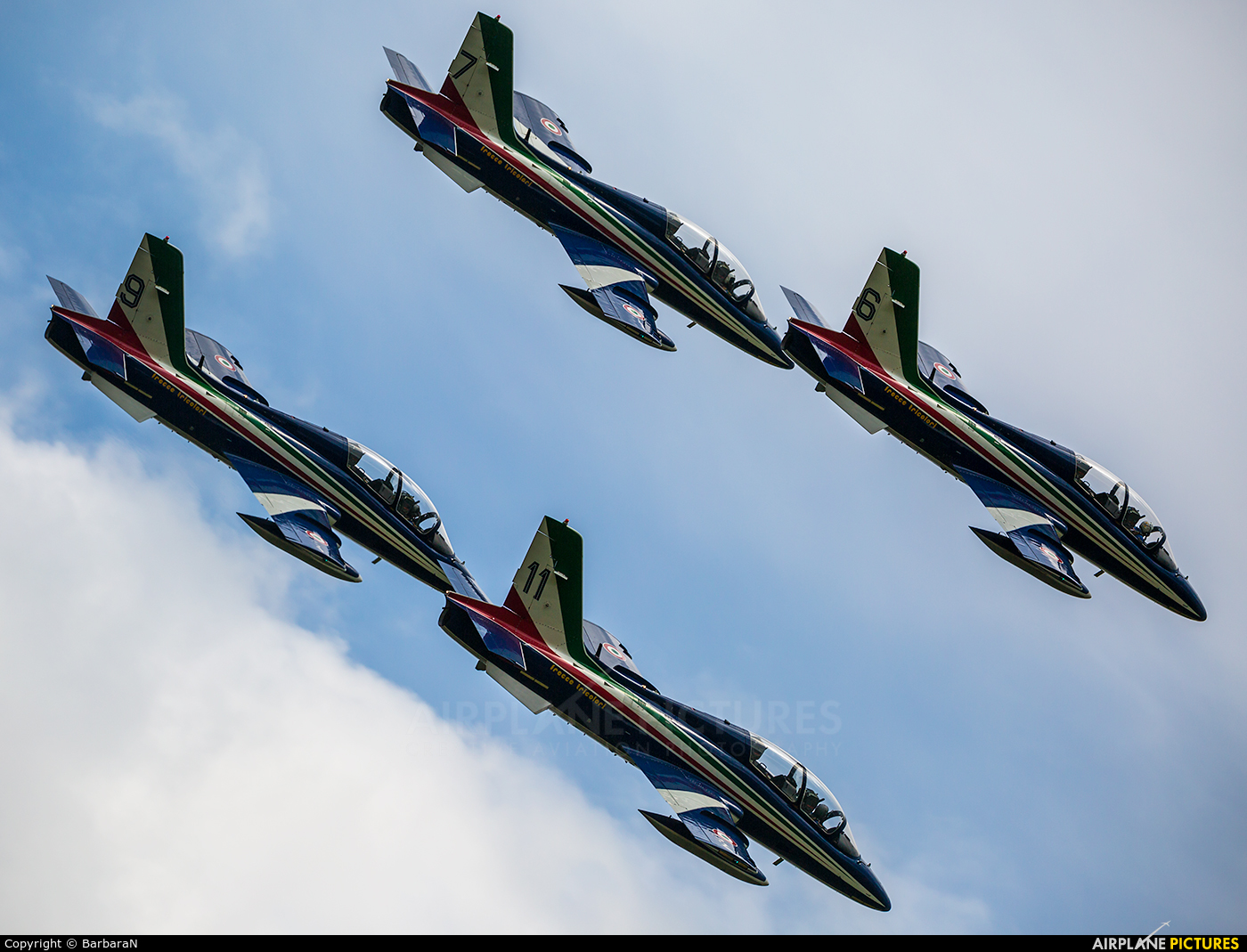 "Italy - Air Force ""Frecce Tricolori"" MM54505 aircraft at Sliač"