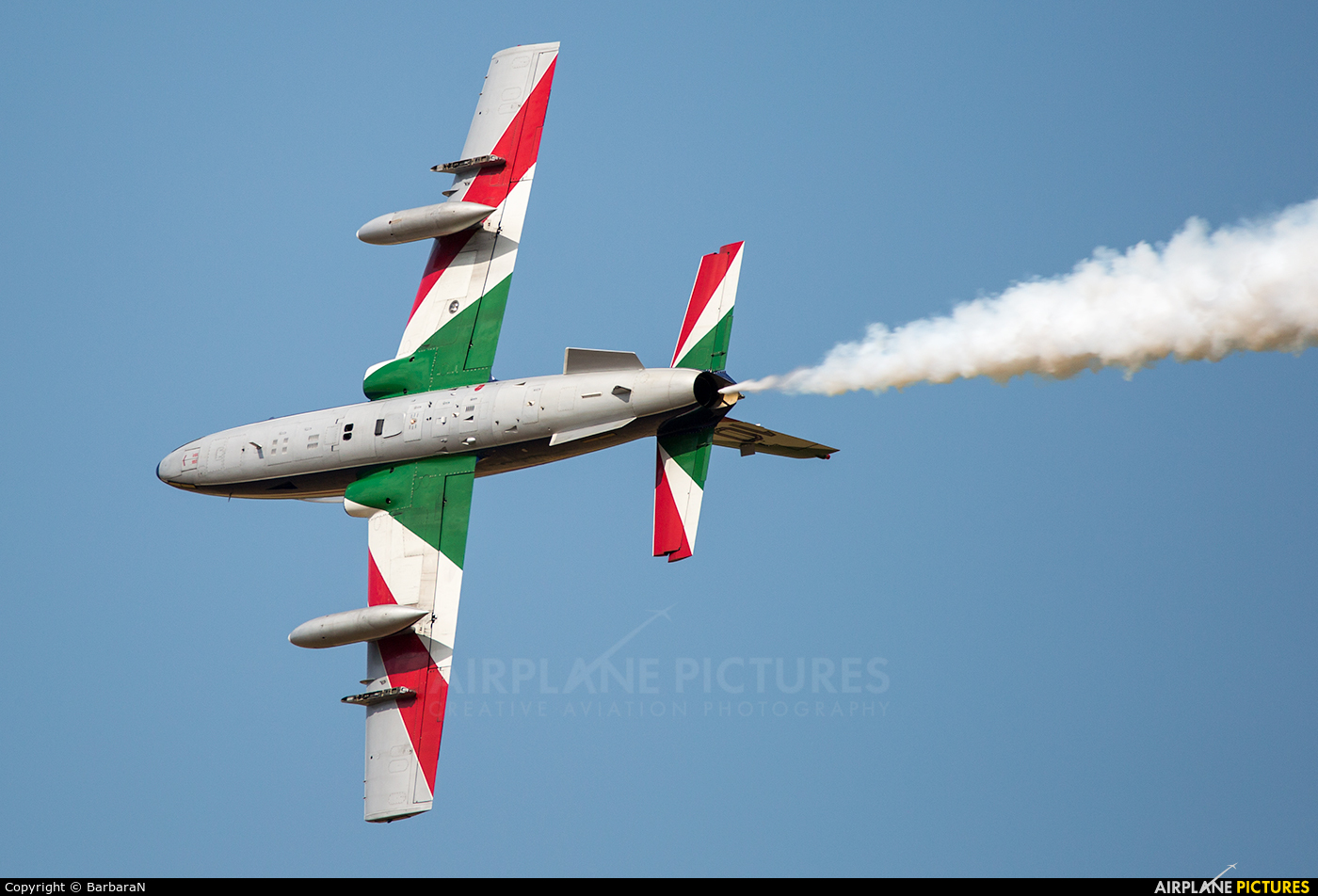 """Italy - Air Force """"Frecce Tricolori"""" TRICOLORI aircraft at Sliač"""