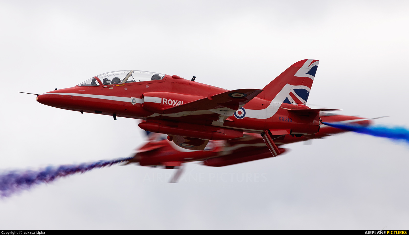 "Royal Air Force ""Red Arrows"" XX319 aircraft at Yeovilton"