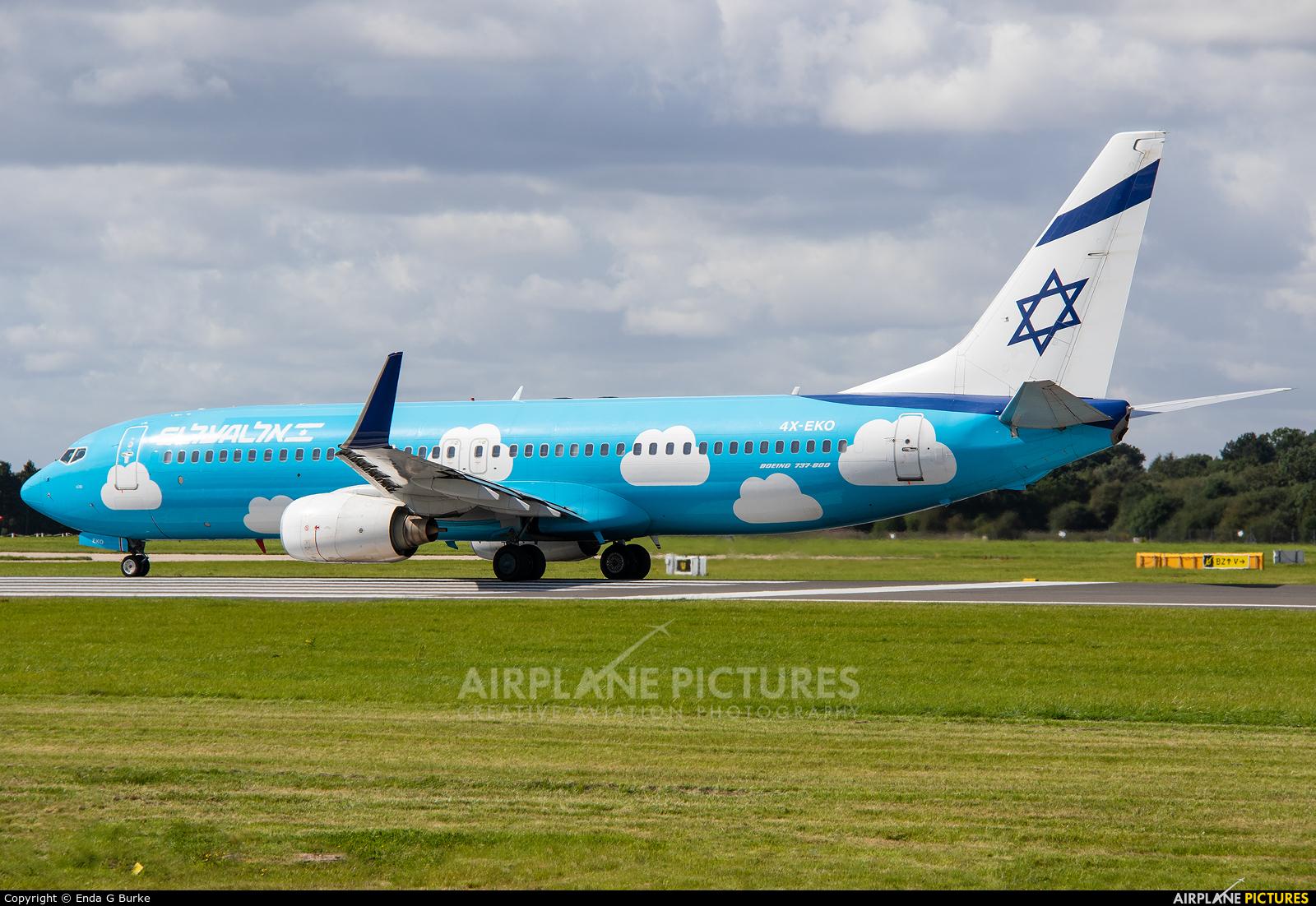 El Al Israel Airlines 4X-EKO aircraft at Manchester