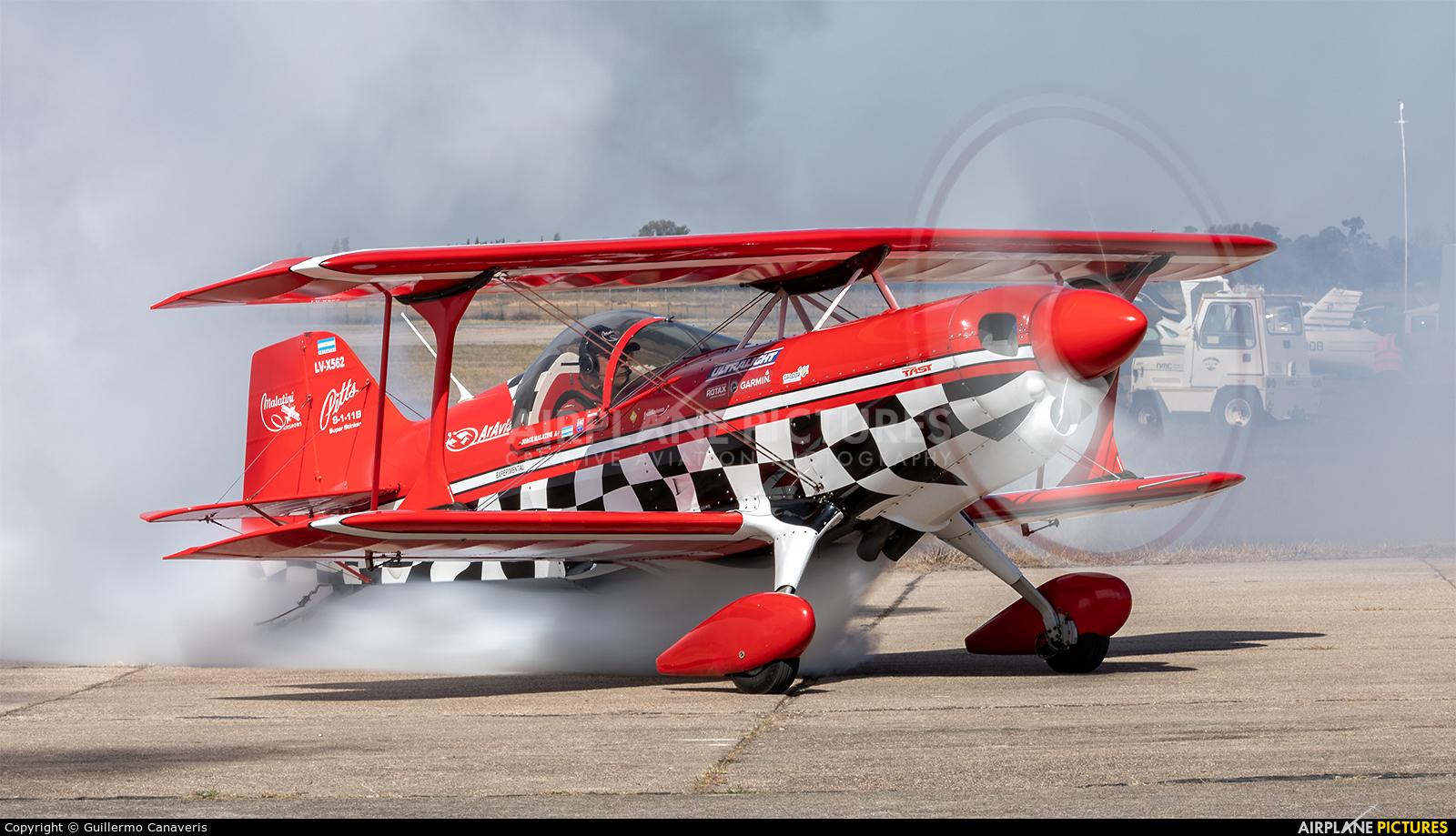 Private LV-X562 aircraft at Rio Cuarto - Area de Material