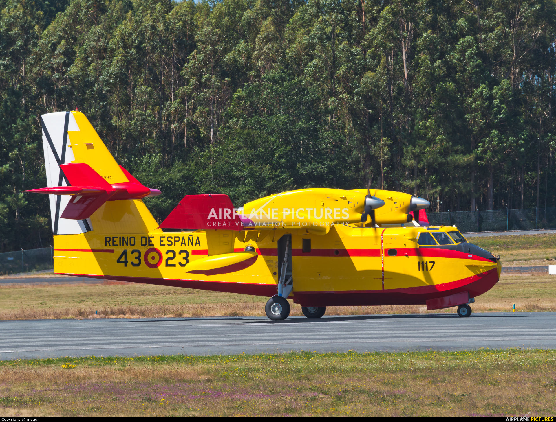 Spain - Air Force UD.13-23 aircraft at Santiago de Compostela