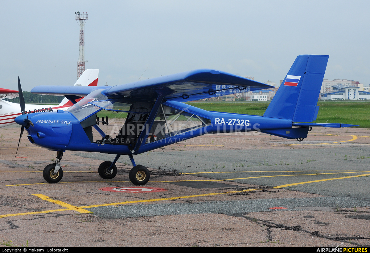 Private RA-2732G aircraft at Omsk Tsentralny