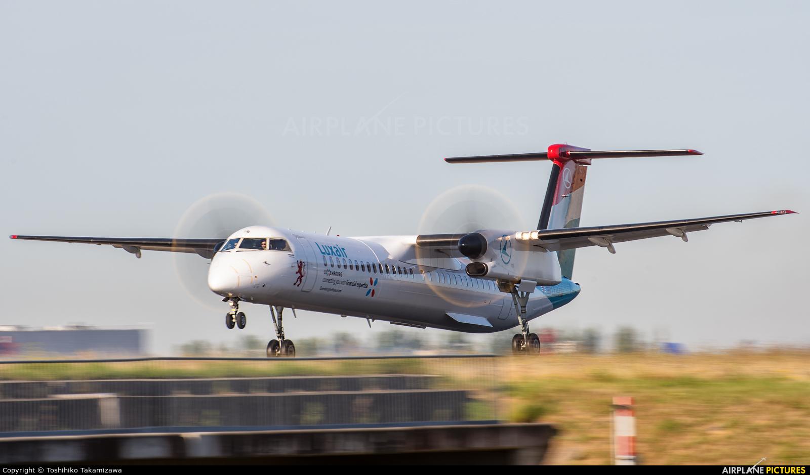 Luxair LX-LQB aircraft at Paris - Charles de Gaulle