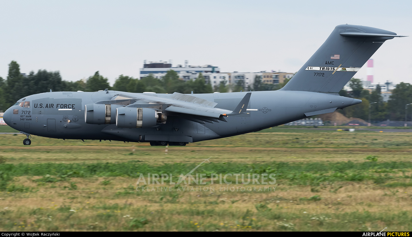 USA - Air Force 07-7172 aircraft at Warsaw - Frederic Chopin