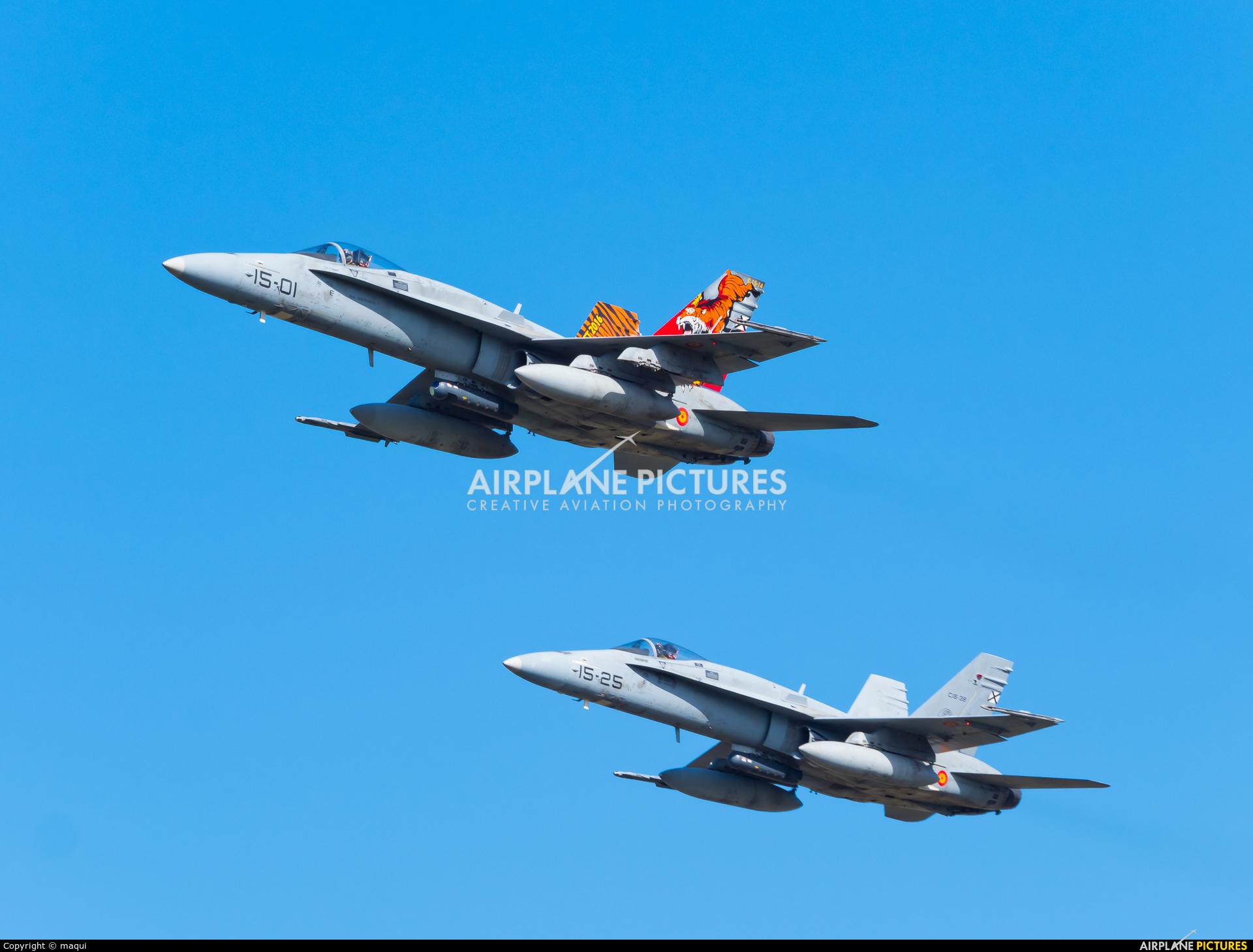 Spain - Air Force C.15-14 aircraft at La Coruña