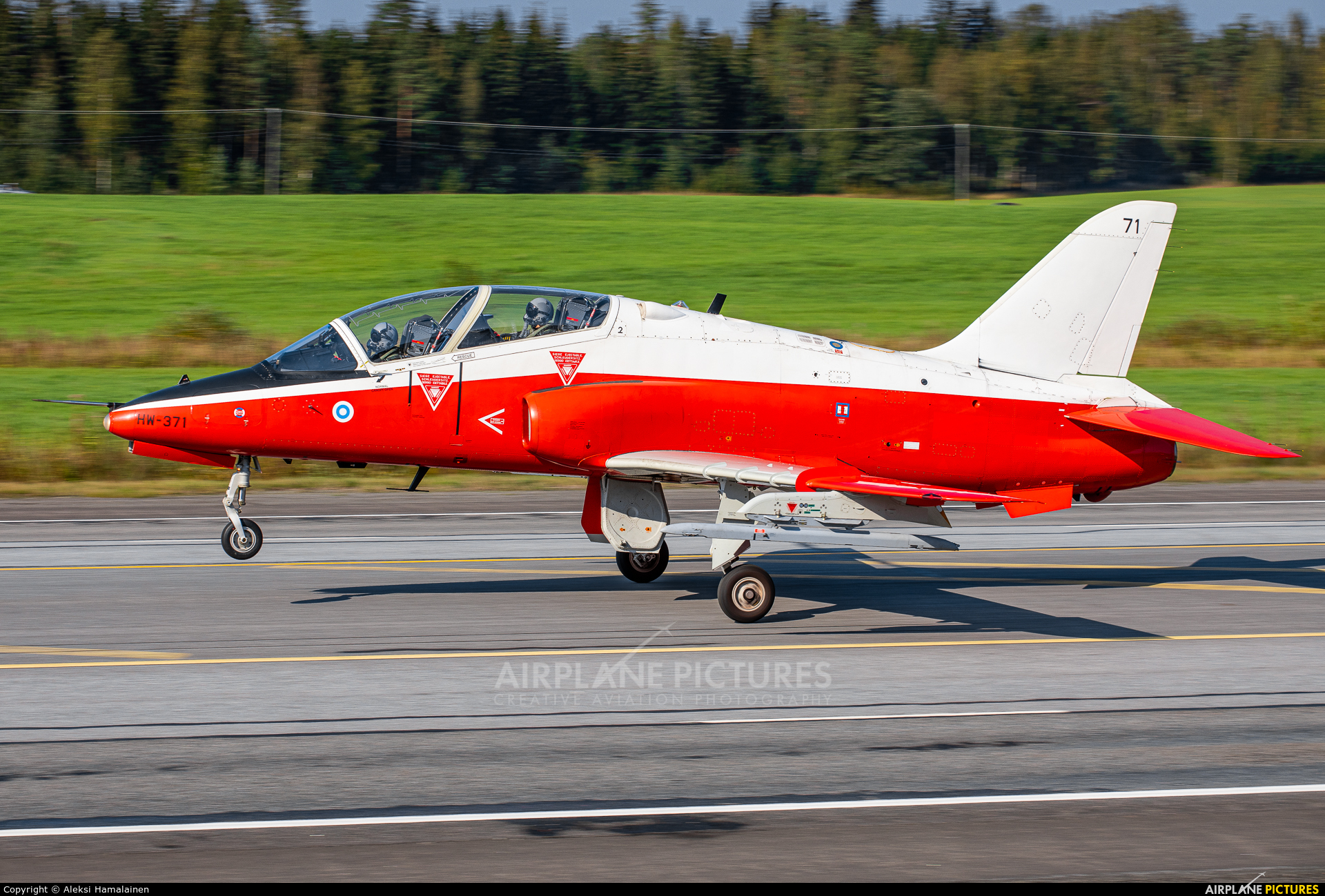 Finland - Air Force HW-371 aircraft at Off Airport - Lusi Highway Strip