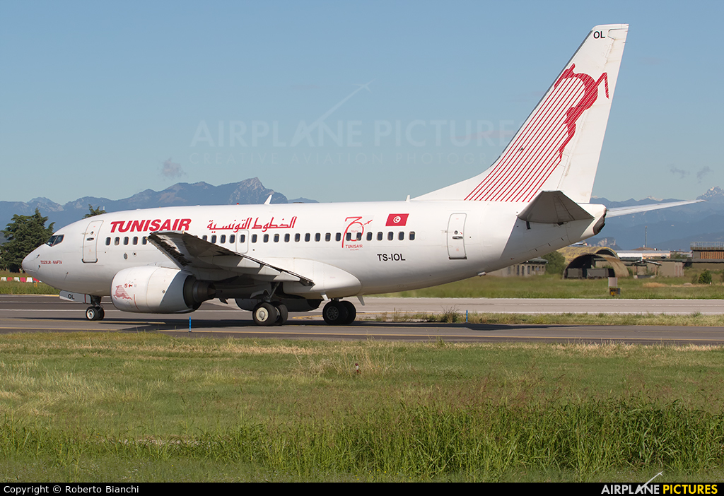 Tunisair TS-IOL aircraft at Verona - Villafranca
