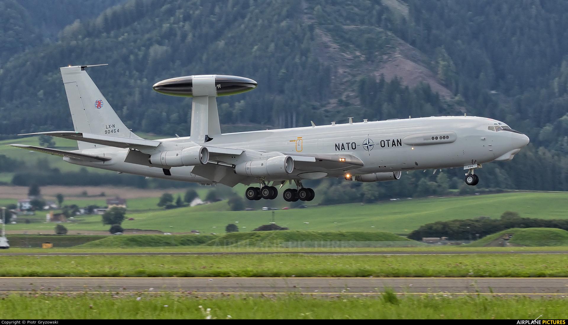 NATO LX-N90454 aircraft at Zeltweg