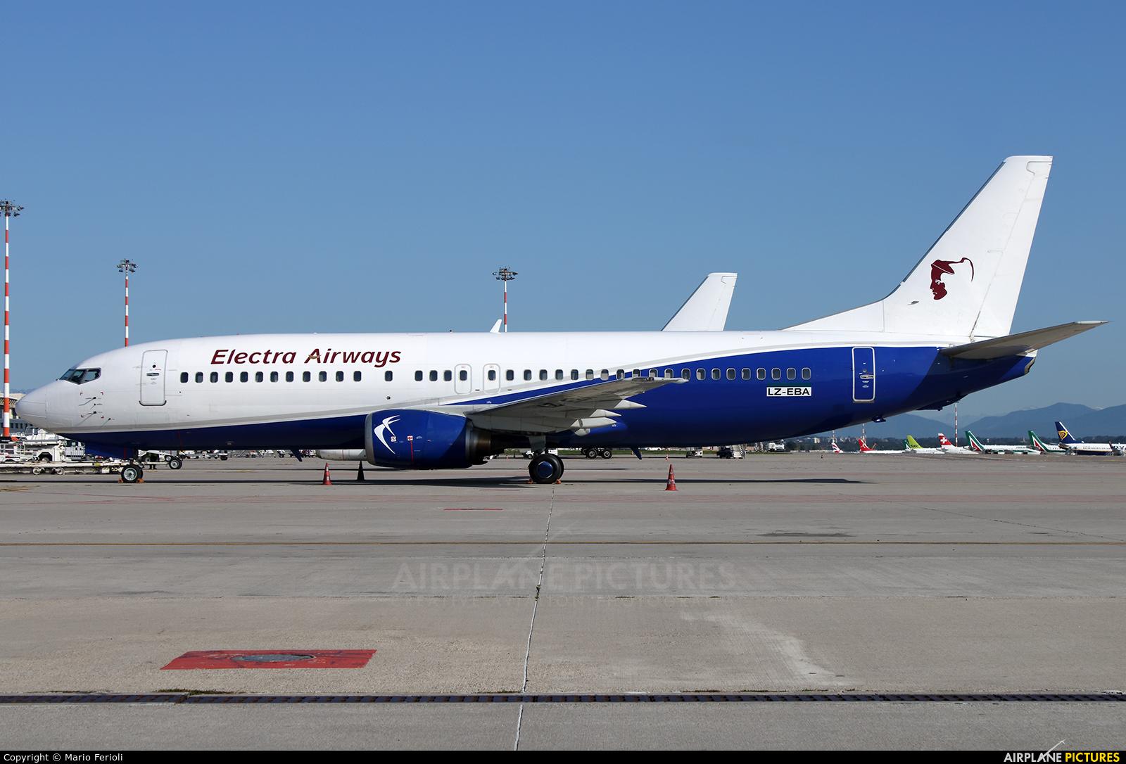 Electra Airways LZ-EBA aircraft at Milan - Malpensa