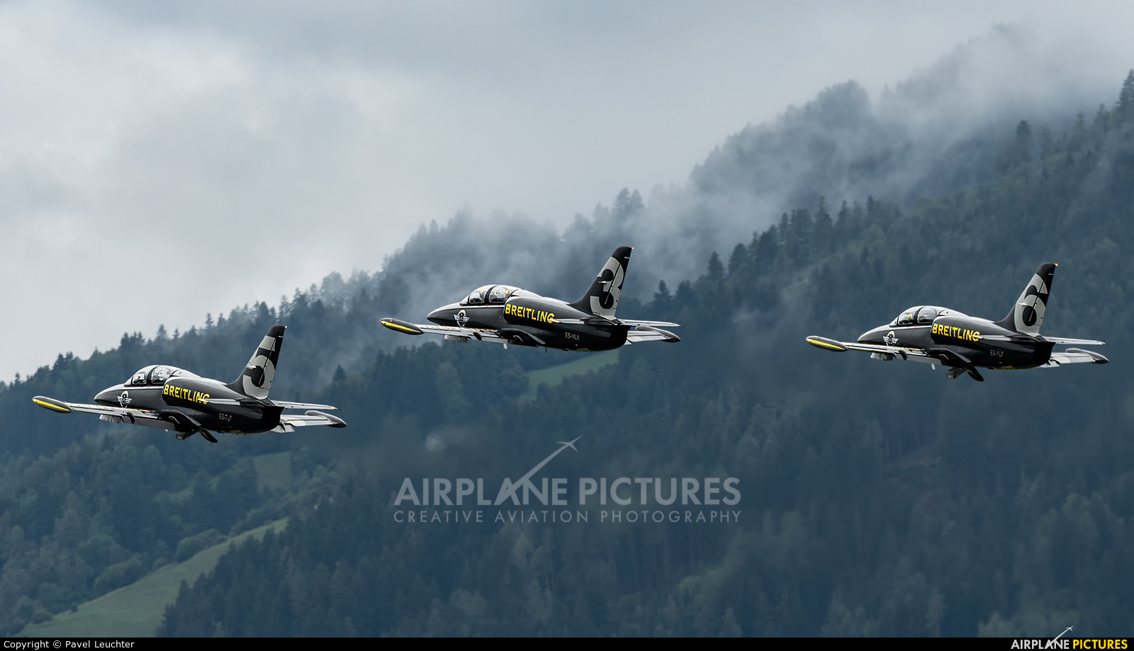 Breitling Jet Team ES-YLX aircraft at Zeltweg
