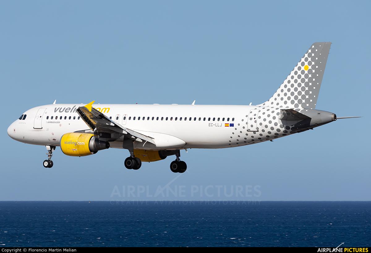 Vueling Airlines EC-LLJ aircraft at Lanzarote - Arrecife