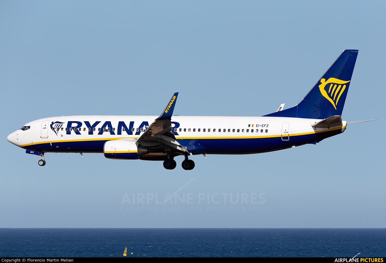 Ryanair EI-EFZ aircraft at Lanzarote - Arrecife