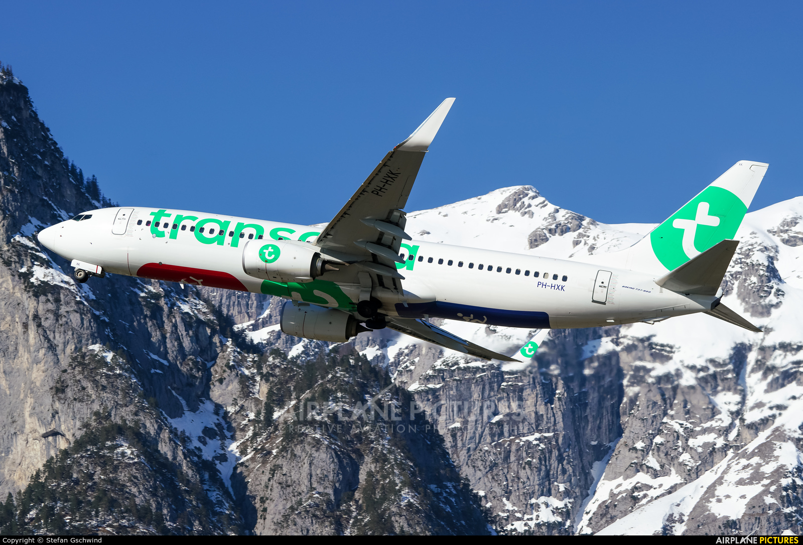 Transavia PH-HXK aircraft at Innsbruck