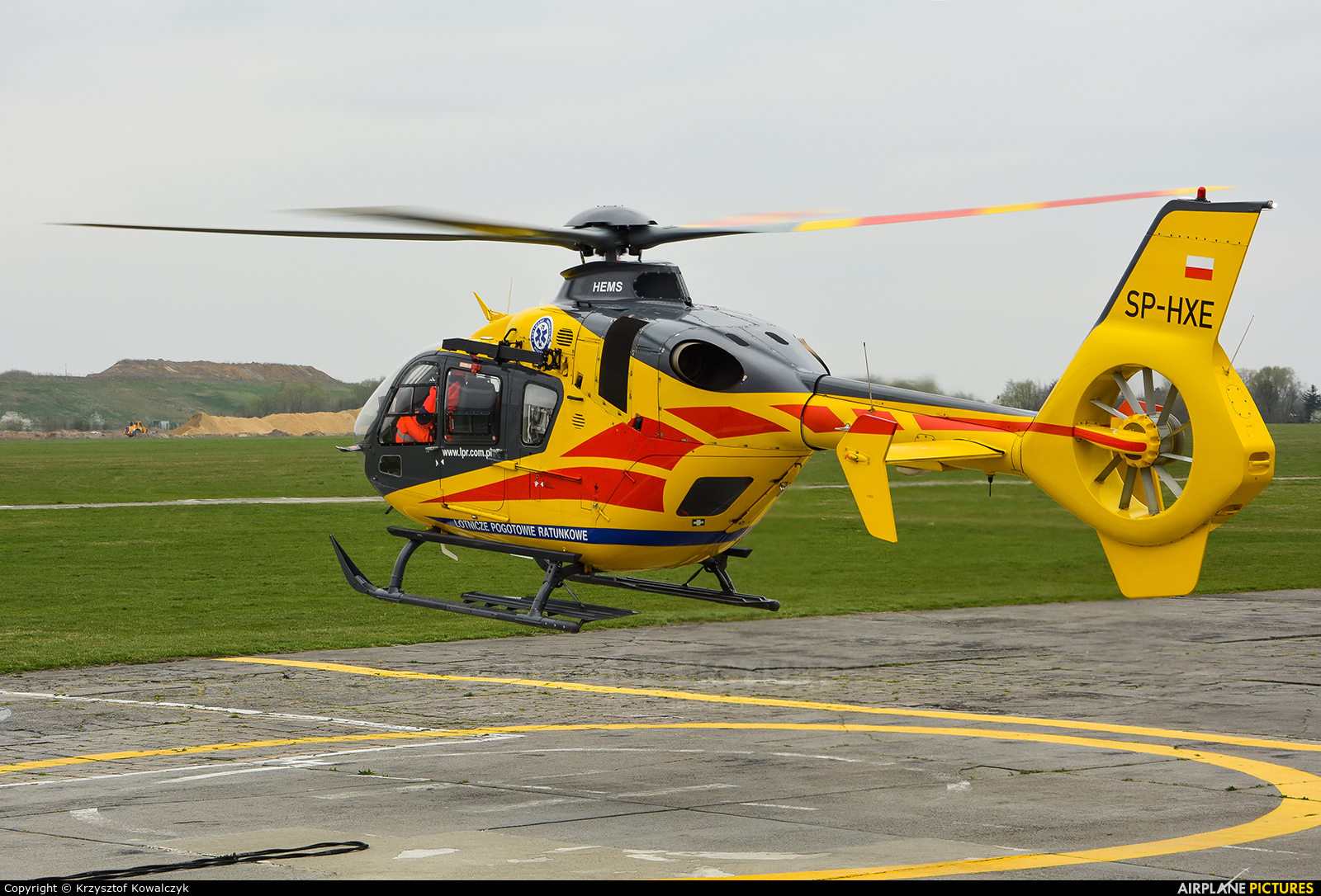 Polish Medical Air Rescue - Lotnicze Pogotowie Ratunkowe SP-HXE aircraft at Gliwice