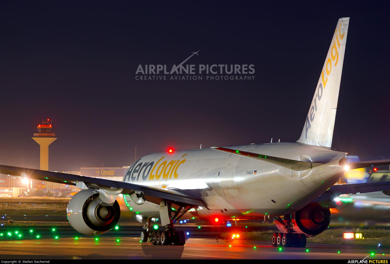 AeroLogic D-AALH aircraft at Frankfurt