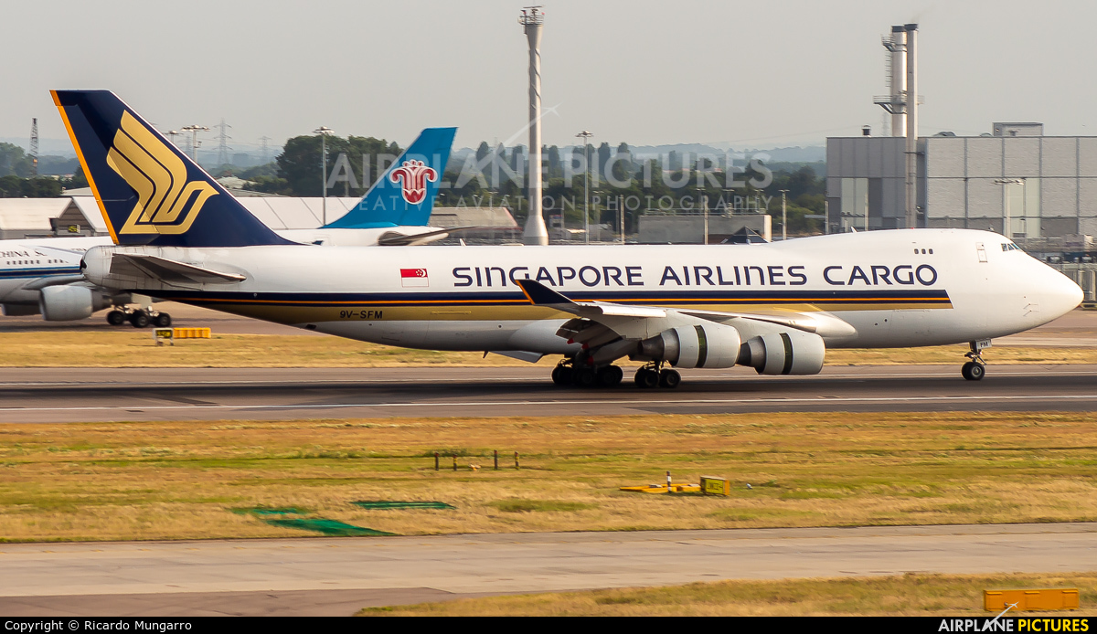 Singapore Airlines Cargo 9V-SFM aircraft at London - Heathrow