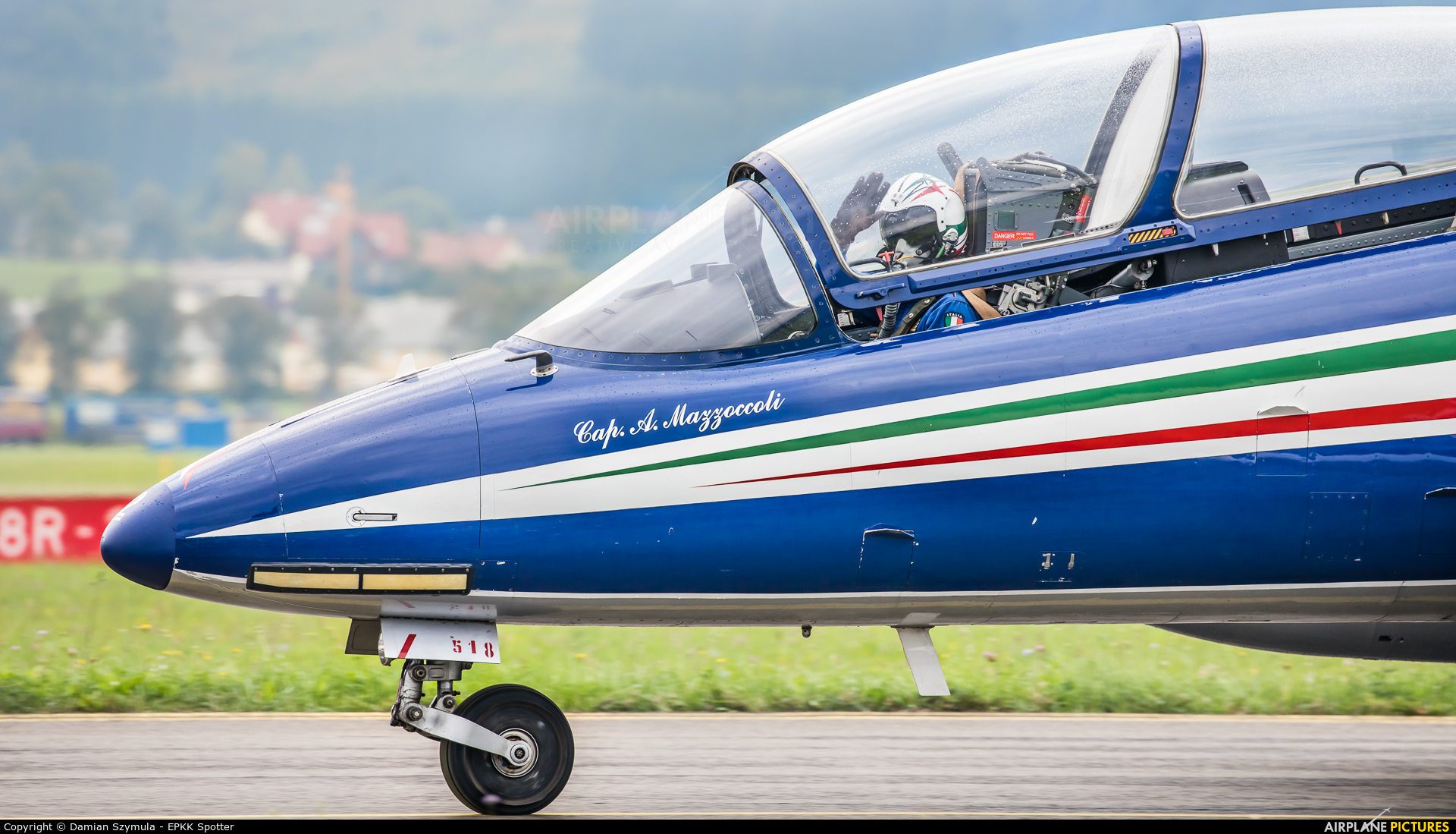 "Italy - Air Force ""Frecce Tricolori"" M.M 54518 aircraft at Zeltweg"