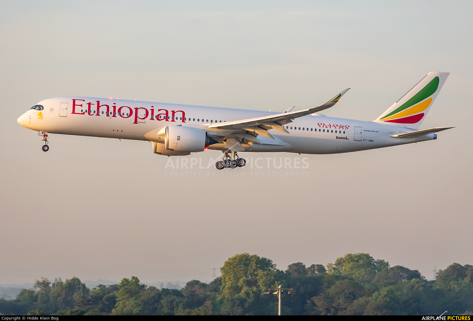 Ethiopian Airlines ET-AWN aircraft at London - Heathrow
