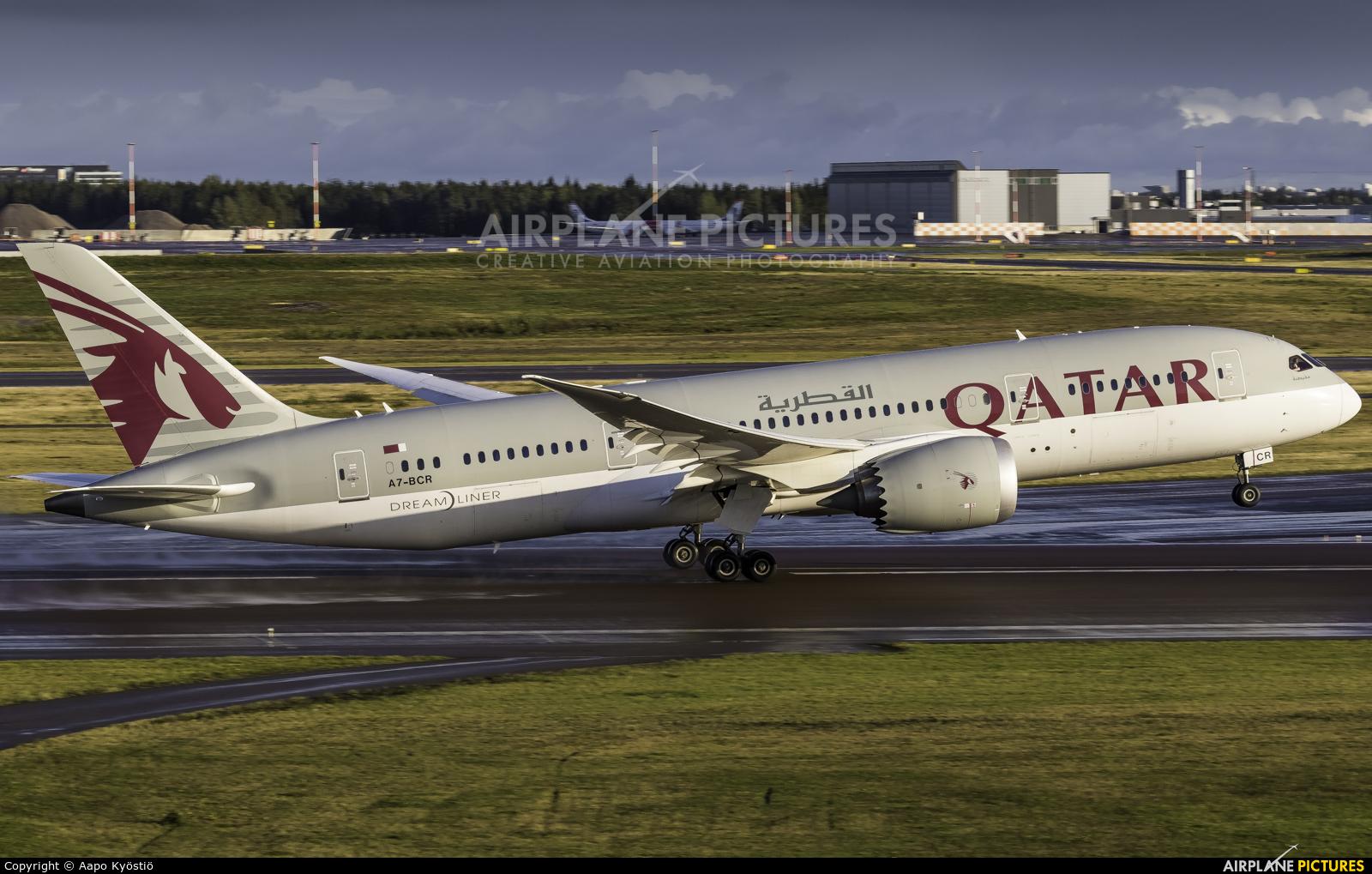 Qatar Airways A7-BCR aircraft at Helsinki - Vantaa